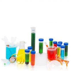 Ett startkit med produkter till ett laboratorium