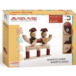 Magplayer 24 delar med roliga figurer